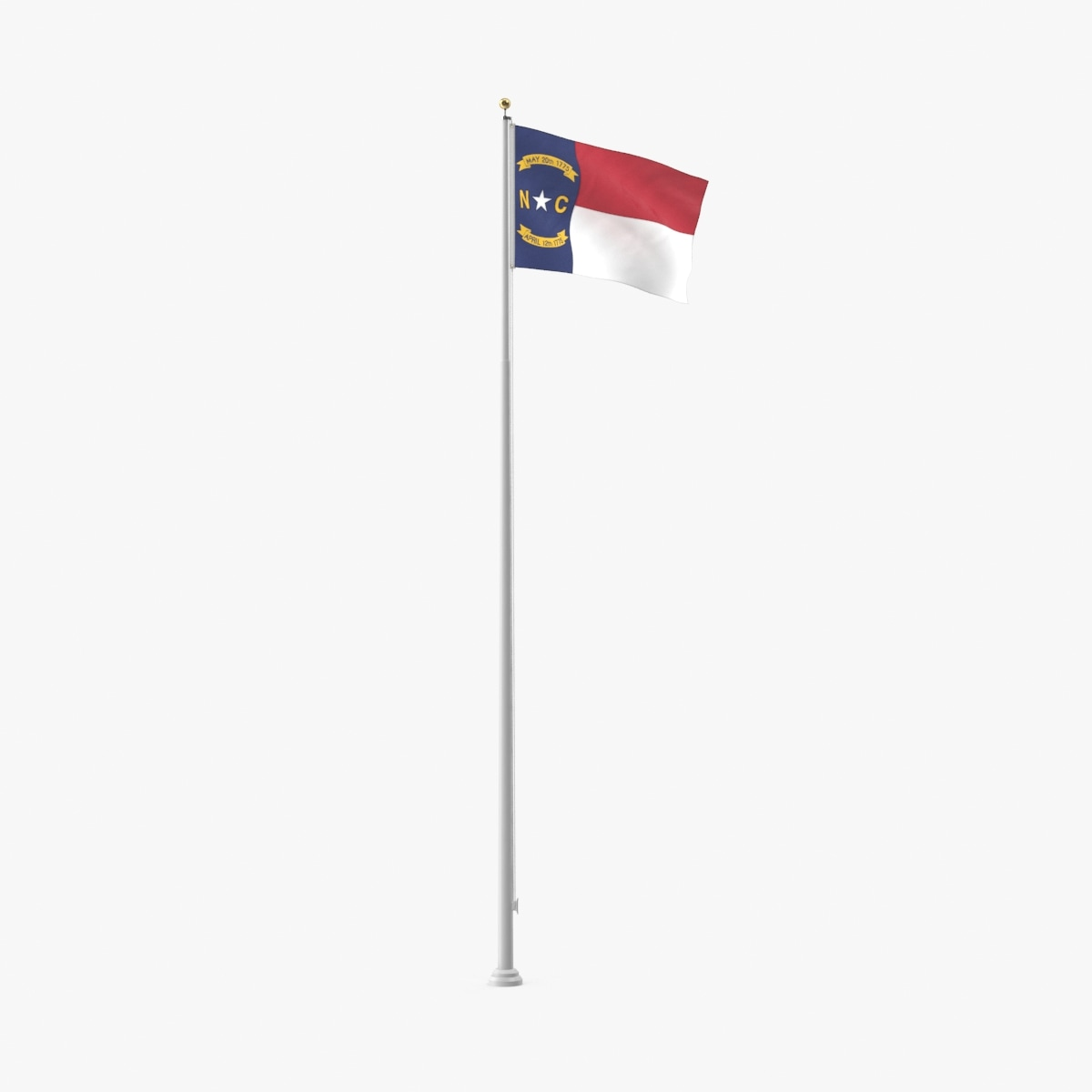 state-flags---north-carolina 3D model