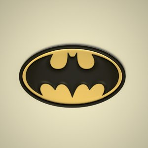 bat man logo 3D model
