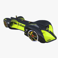 autonomous racing car roborace 3D model