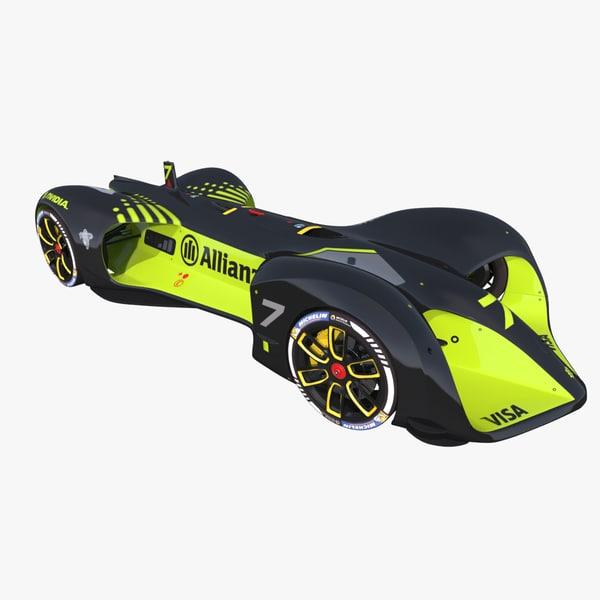 autonomous racing car roborace 3D model