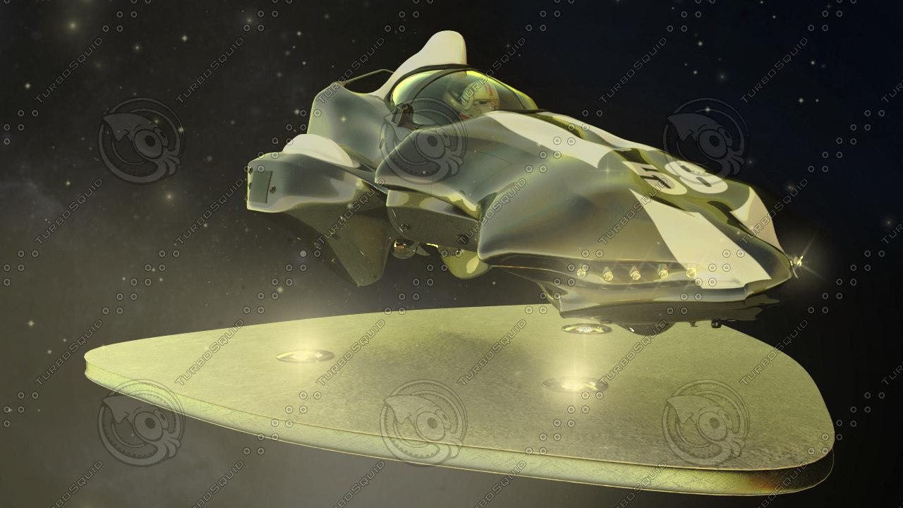 3D fictional space vehicle
