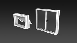 casement window 3D model