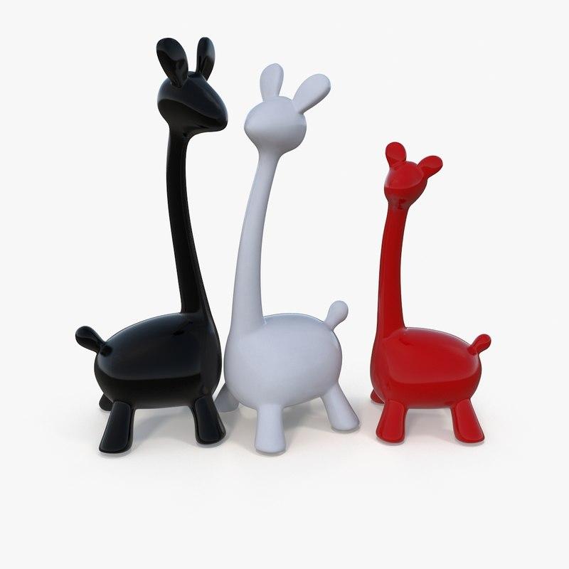 3D interior giraffes