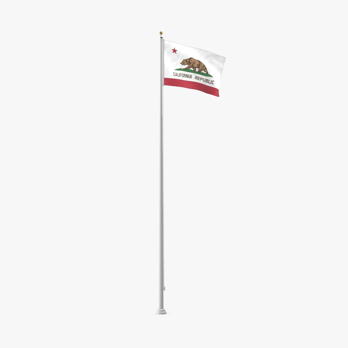 state-flags---california 3D model