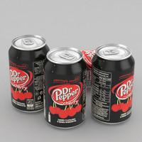 3D model beverage dr pepper cherry