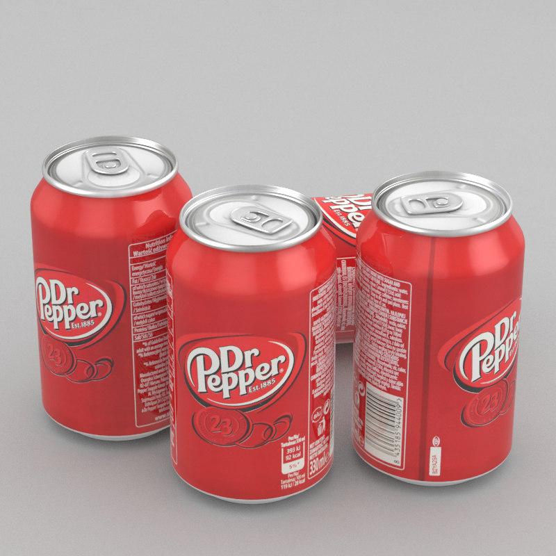 beverage dr pepper 330ml 3D model