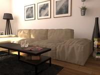 3D sofa house