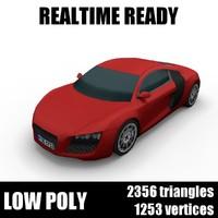 Generic low poly supercar 001