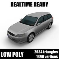 generic station wagon 001 3D model