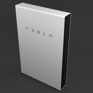 3D tesla powerwall 2