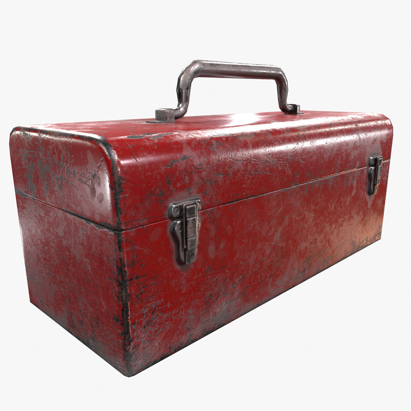 3D model ready retro toolbox pbr