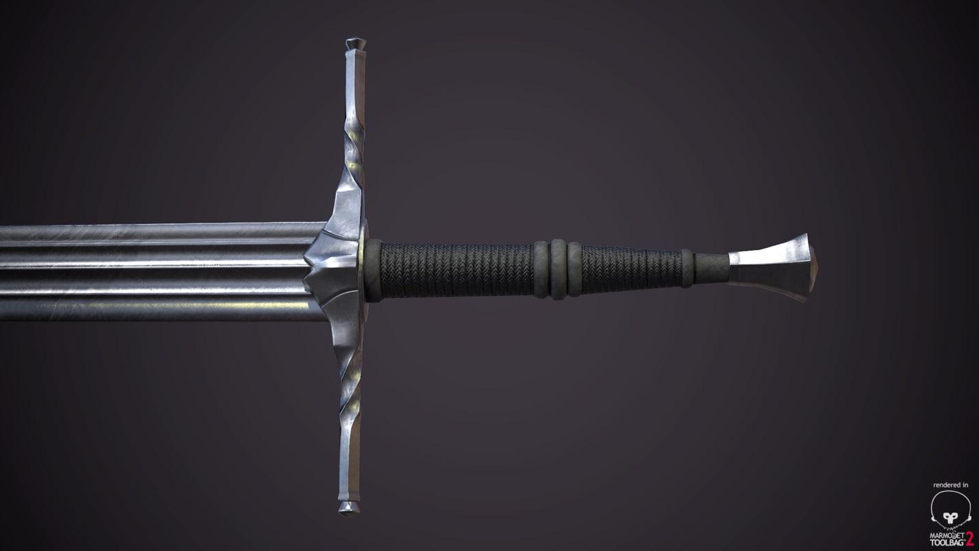 witcher 3 sword 3D model