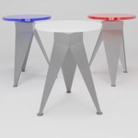 minimalist stool 3D
