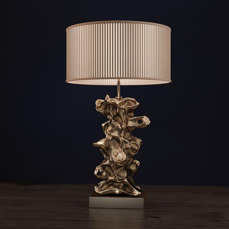 3D libero gold lamp lui