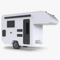 3D motorhome white model