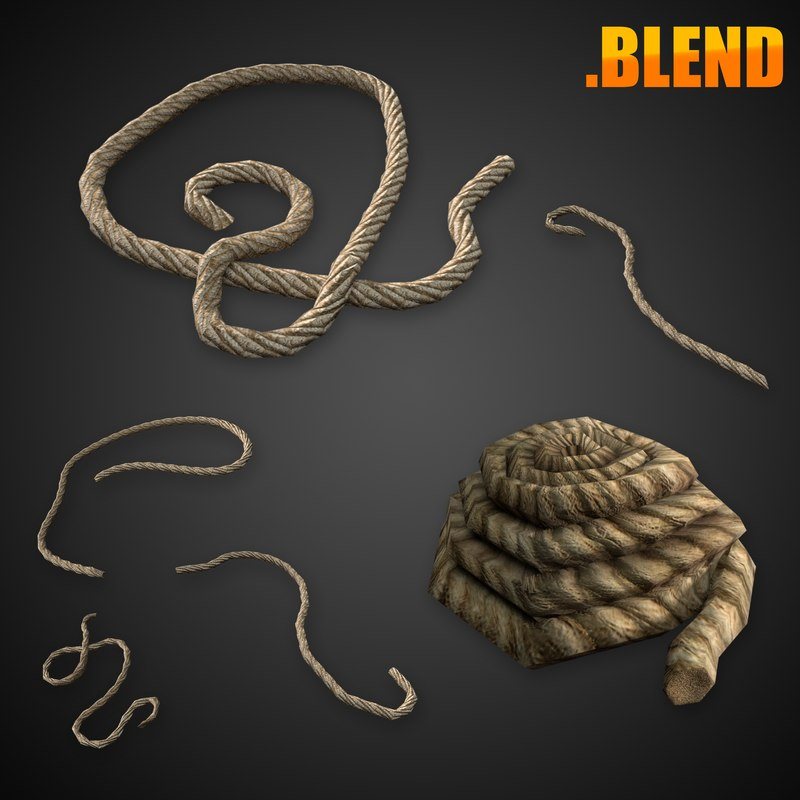 rope coil 3D model