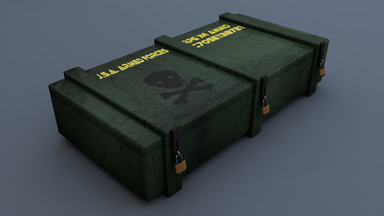 3D military rpg ammo