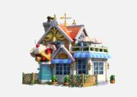 LowPoly Cartoon House02