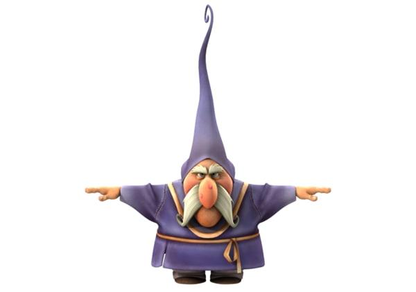 3D gnome cartoon