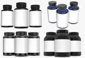 3D bottles model