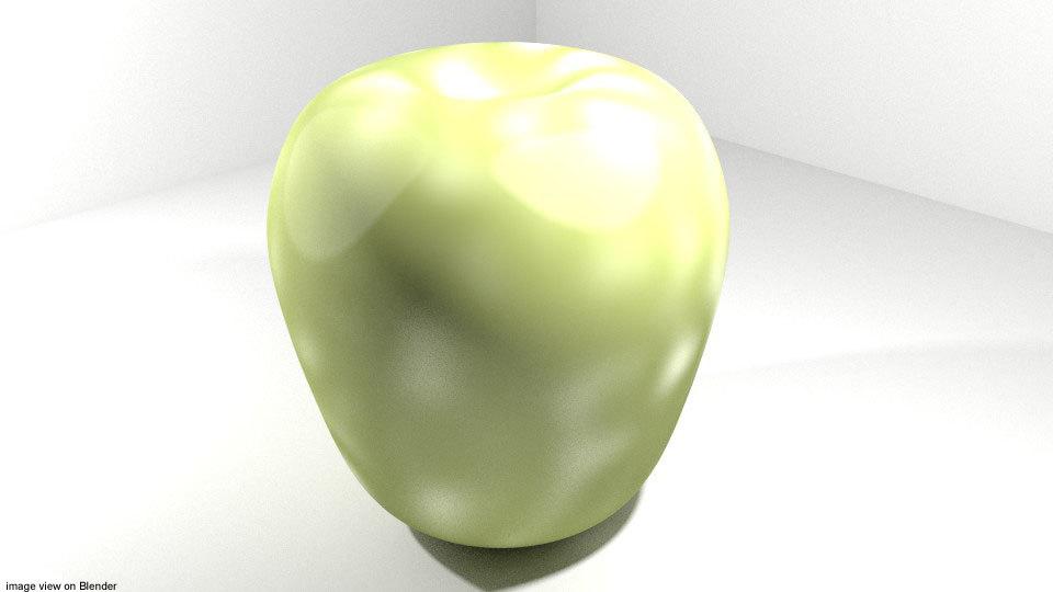 3D fruit pear tropical
