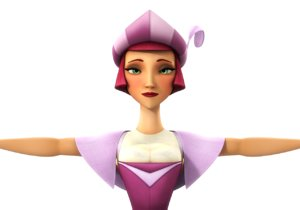 3D princess cartoon