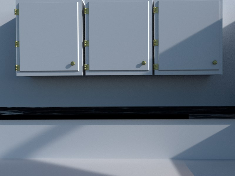 3D kitchen cabinets set
