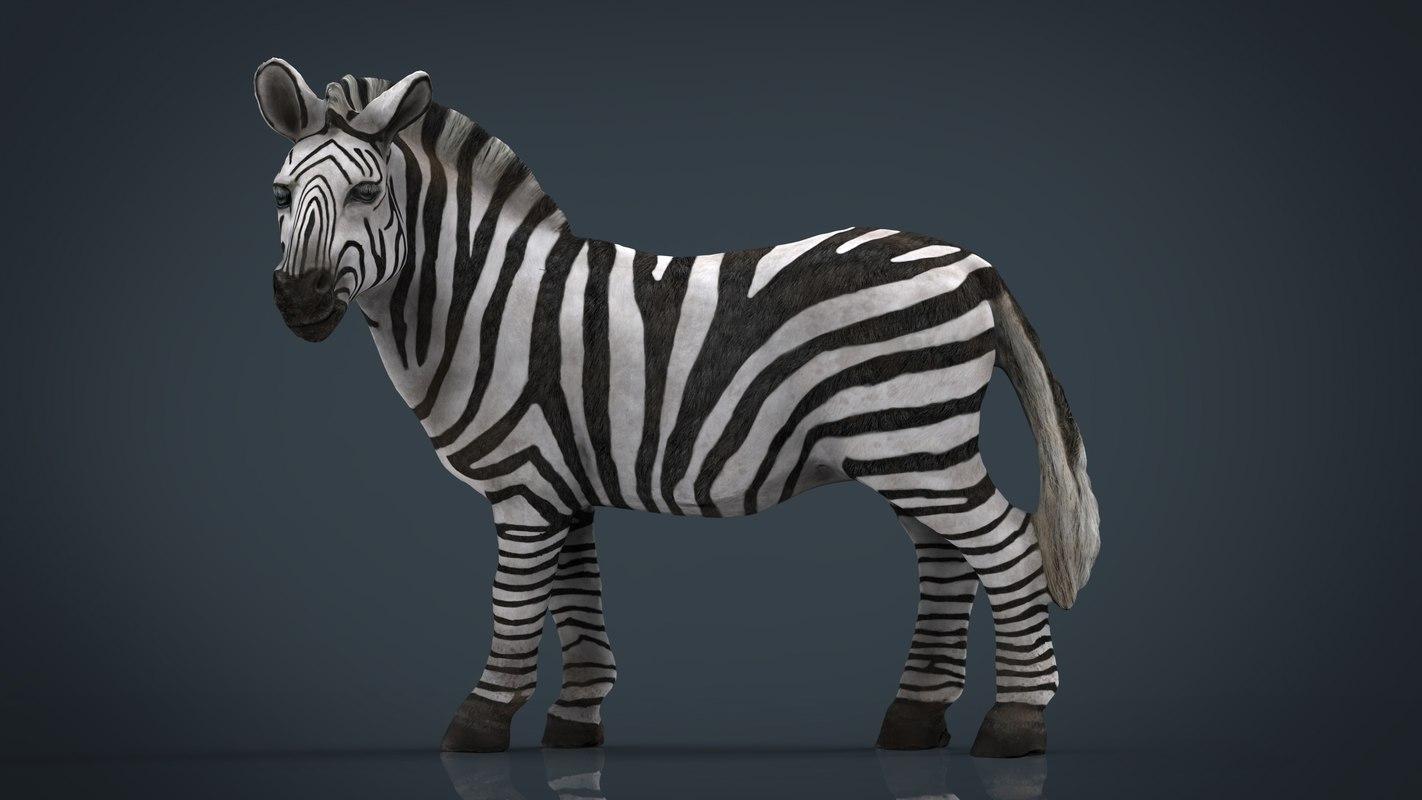 3D zebra stl 3mf model