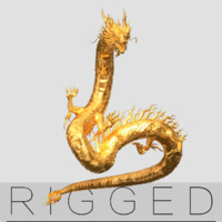 Gold Dragon rigged V2