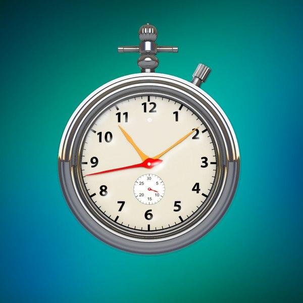watch clock 3D