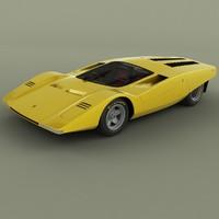 1969 ferrari 512s berlinetta 3D model