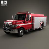 international terrastar firetruck 3D