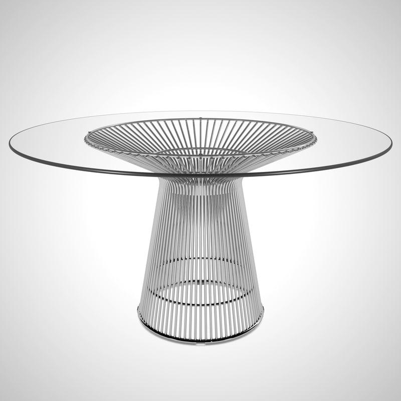 warren platner dining table 3D model