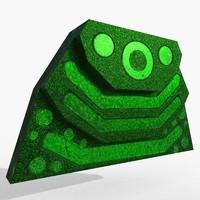 emissive atomic 3D model
