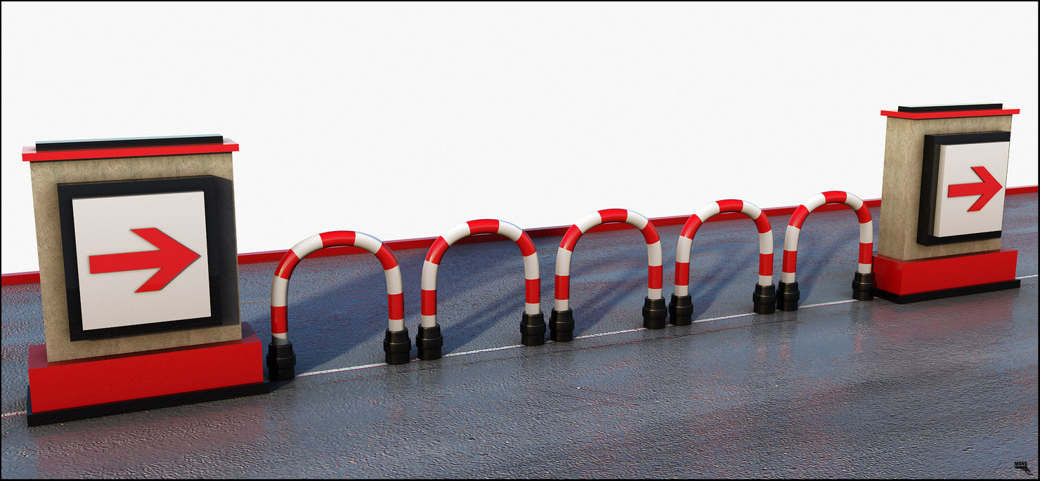 3D barrier road fence