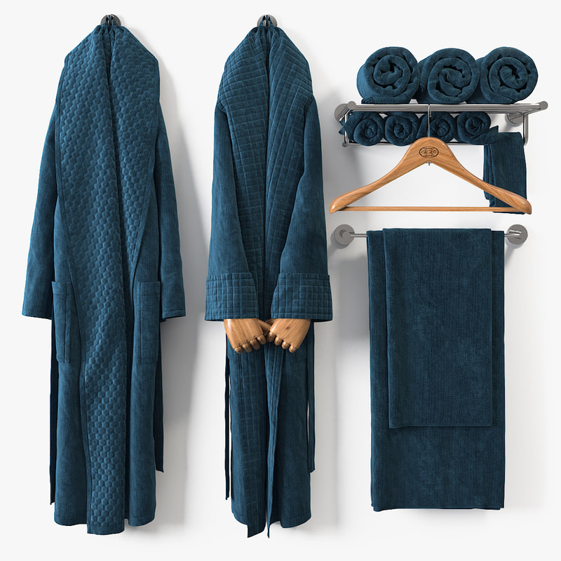 bath bathrobe 3D