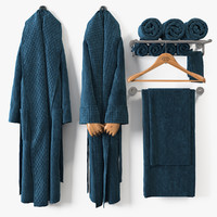bath bathrobe 3D