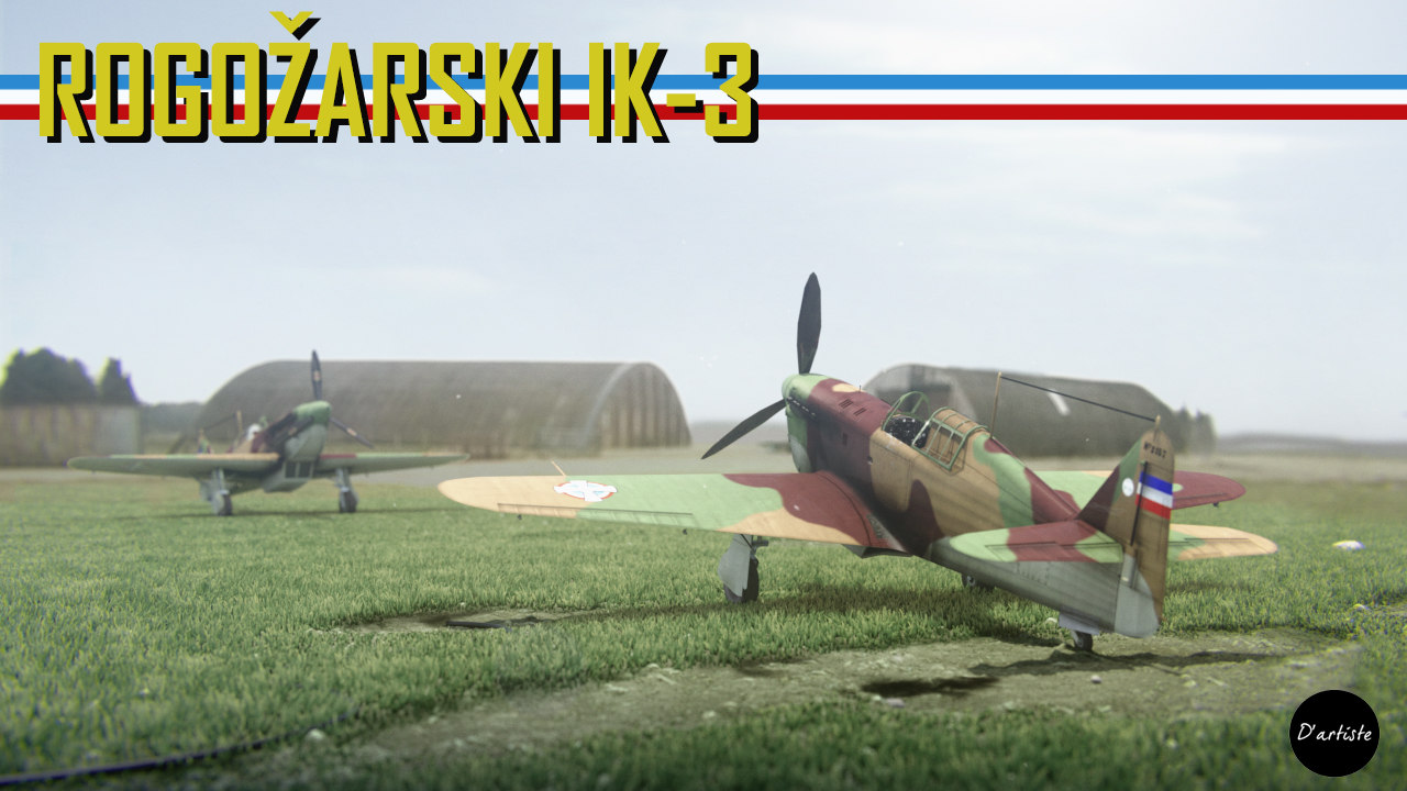 3D ik-3 rogozarski fighter