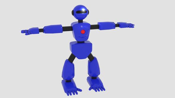 robot character cartoon bot model