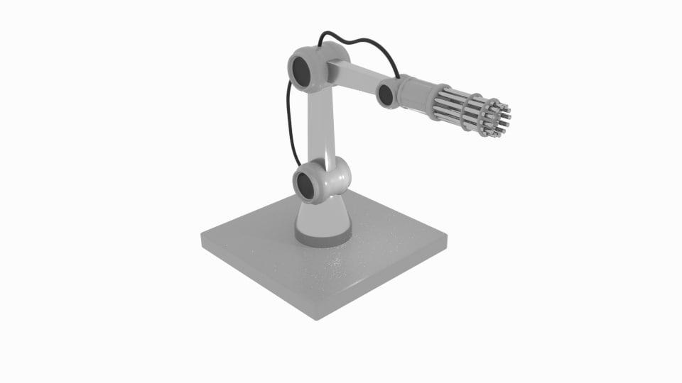 gun robot arm 3D