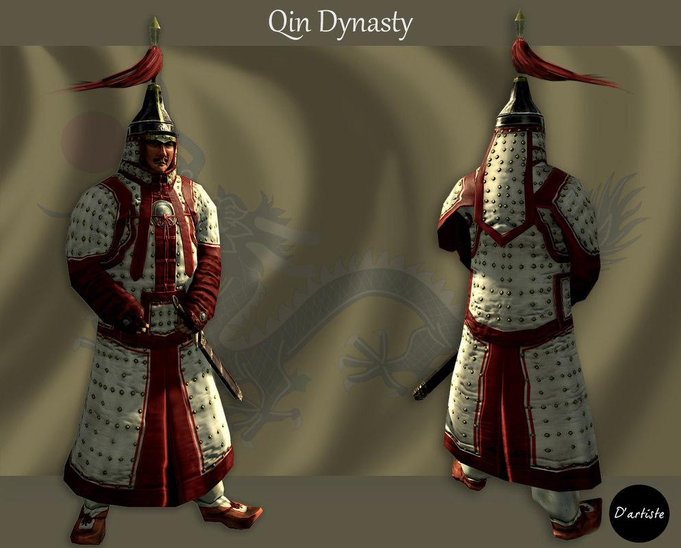 3D imperial guard qin model