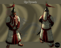 3D imperial guard qin model
