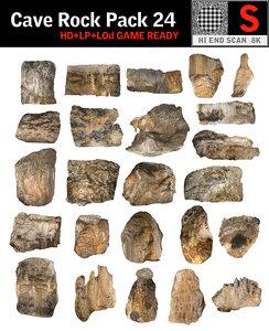 3D cave rock pack 24