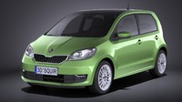 3D skoda citigo 5-door model