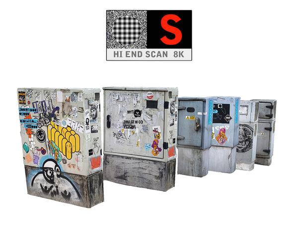 city transformer box 3D