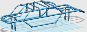 3D telaio rollbar x-maxx