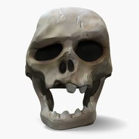 3D cartoon skull