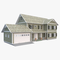 3D house traditional model