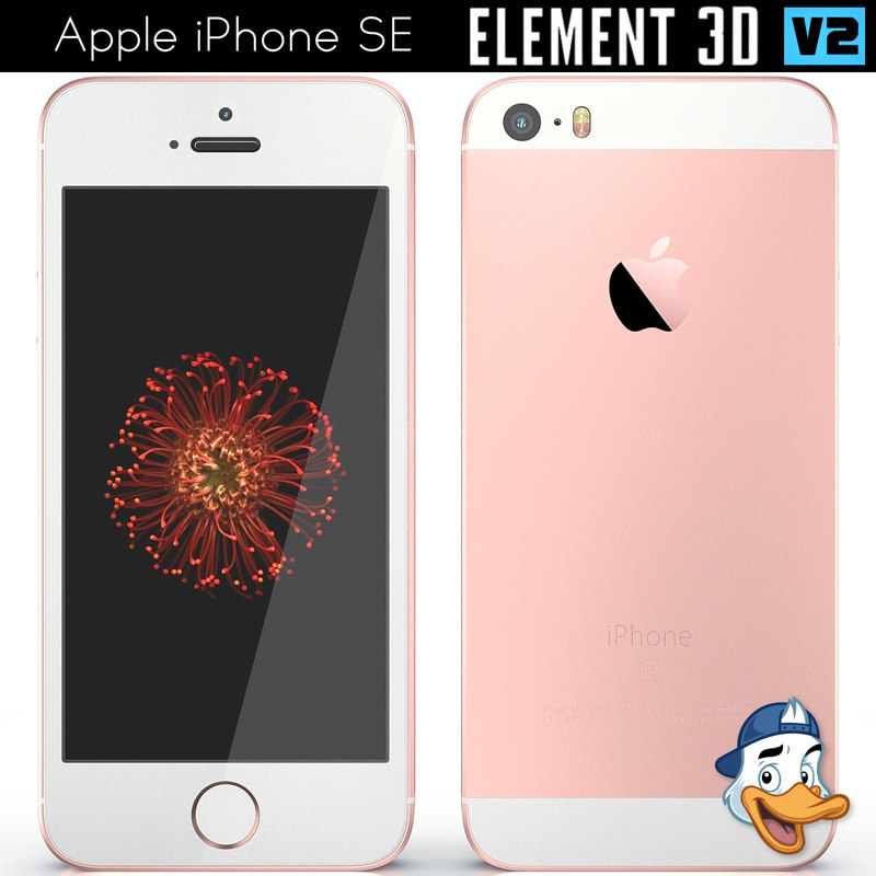 3D apple iphone se element