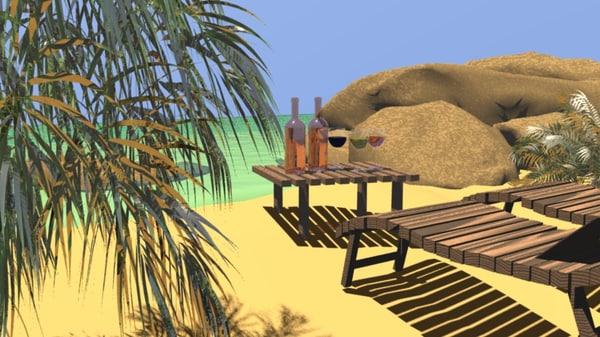 sea beach 3D model